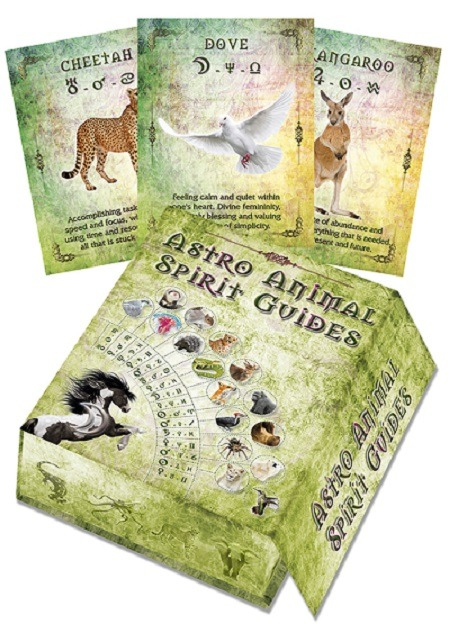 A unique set of 100 Astro Animal Spirit Cards